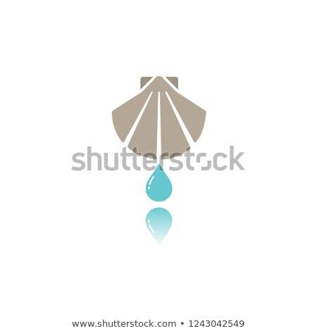 Chrzest kolor ikona refleksji baby projektu Zdjęcia stock © Imaagio