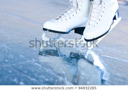 artistik · patinaj · buz · paten · yalıtılmış · beyaz - stok fotoğraf © kzenon