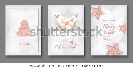 Brillante design Natale flyer Foto d'archivio © SArts