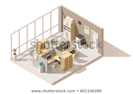 Vector isometric office room stock photo © tele52