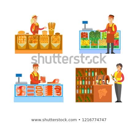dipartimento · supermercato · store · vettore · venditore · consulente - foto d'archivio © robuart