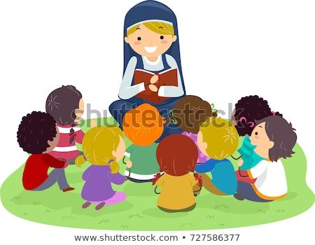 子供 尼僧 聖書 屋外 実例 リスニング ストックフォト © lenm
