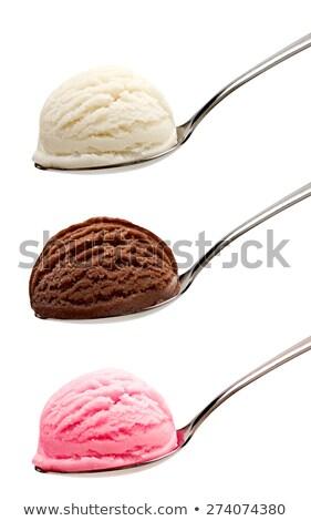 pink spoons with chocolate stock photo © barbaraneveu