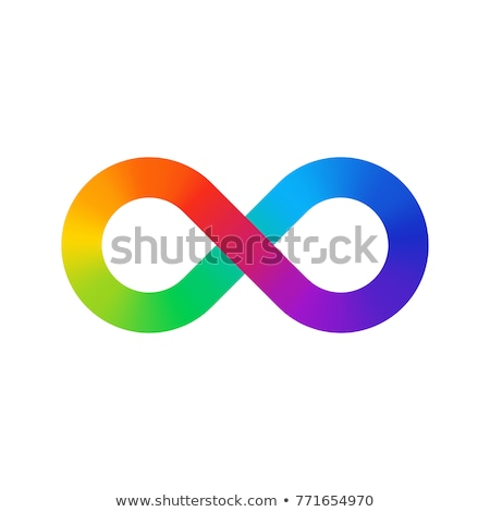 infinity symbol logo sign vector green magenta Stock photo © blaskorizov