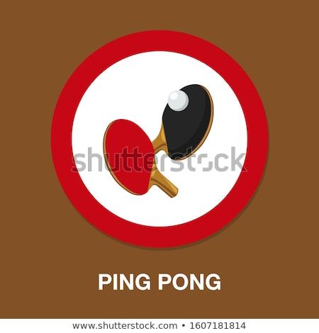 Ping pong logo vektör ikon simge spor Stok fotoğraf © blaskorizov