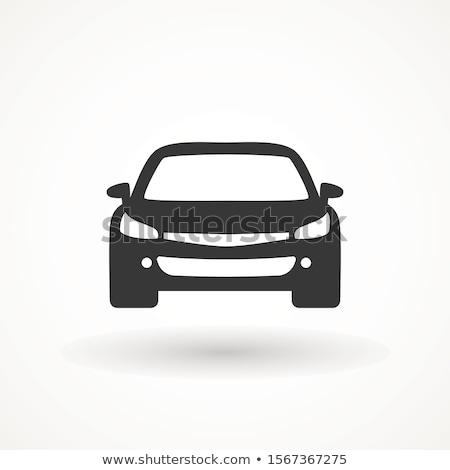 Stok fotoğraf: Yarış · arabası · ikon · simge · logo · vektör