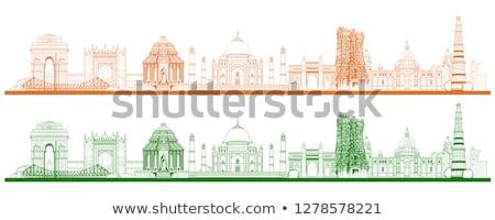 Híres indiai tájékozódási pont ahogy Taj Mahal India Stock fotó © vectomart