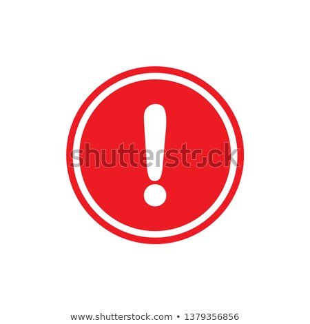 Stock fotó: Piros · felkiáltójel · felirat · háromszög · vektor · izolált