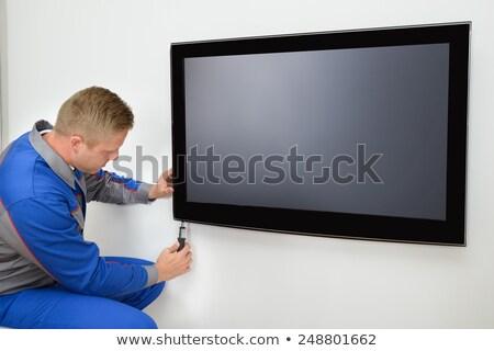 Mannelijke technicus televisie volwassen digitale Stockfoto © AndreyPopov