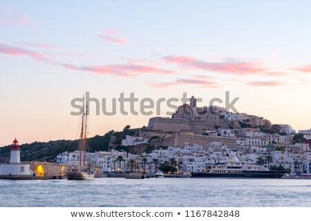 Ibiza white island mediterranean architecture Stock photo © lunamarina