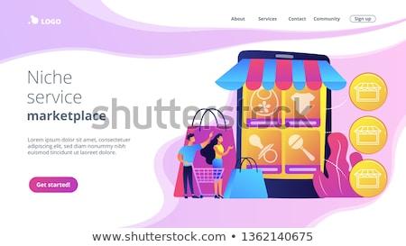 Nis dienst marktplaats landing pagina Stockfoto © RAStudio