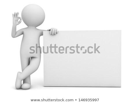 Presenter Man Happy to Present Concept on Board Stock photo © robuart