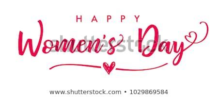 Elegáns boldog nőnap üdvözlet terv nők Stock fotó © SArts