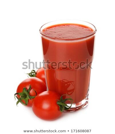 ガラス 新鮮な トマトジュース 孤立した 白 ストックフォト © Eireann