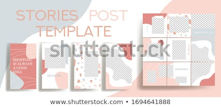 Editable Story Template White Background Stock photo © adamson