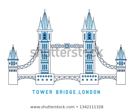 Linha arte Tower Bridge inglaterra símbolo Londres Foto stock © MarySan