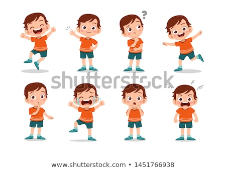 cartoon kids and teens characters group Stock photo © izakowski