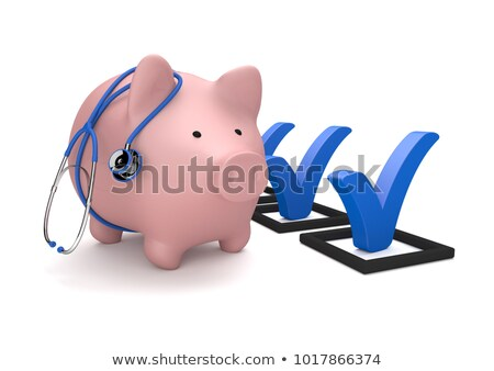 piggy banks blue tick stock photo © limbi007
