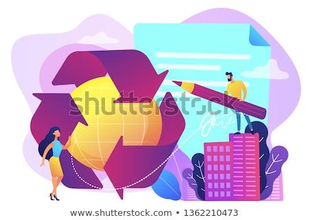 Overheid recycling schrijven nieuwe verplicht wetten Stockfoto © RAStudio