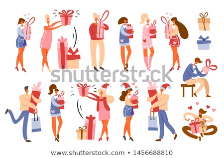 shopping women with bags and purchases vector stock photo © robuart
