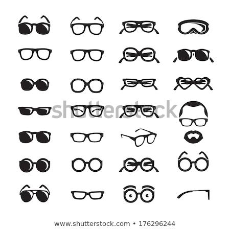 眼鏡 セット アイコン 黒 ストックフォト © kup1984