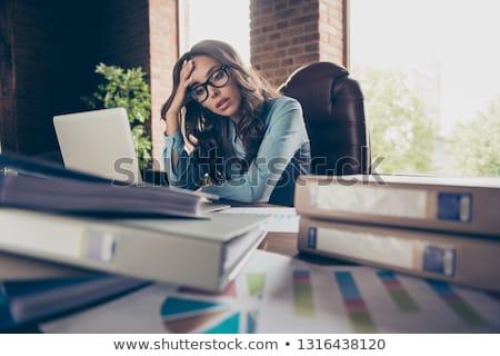 retrato · empresária · mulher · trabalhar · terno - foto stock © deandrobot