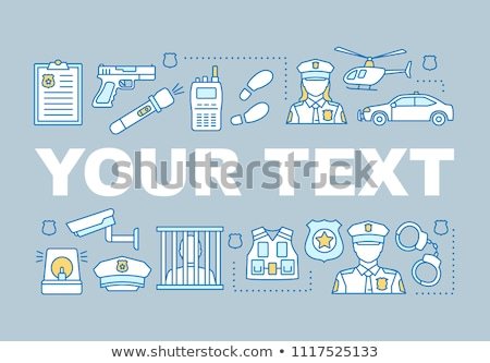 Stock photo: law, order, police and crime icons