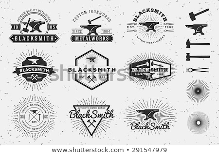 Blacksmith graphic vintage emblems Stock photo © netkov1