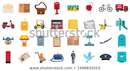 vector set of postman and postbox Stock photo © olllikeballoon