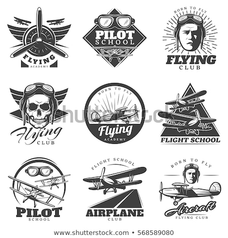 череп Flying логотип белый дизайна карандашом Сток-фото © Vicasso