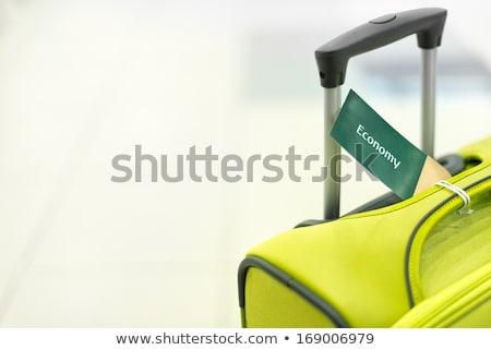 экономики Label чемодан сумку Камера Сток-фото © AndreyPopov