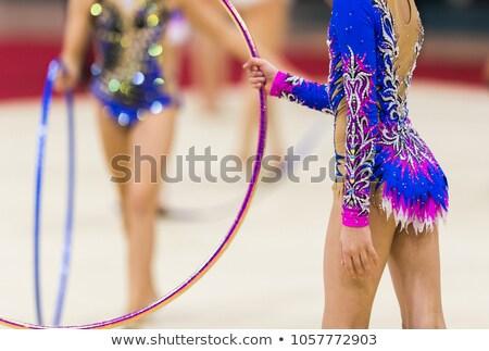 リズミカルな 体操 競争 楽しい アクロバティック ジャンプ ストックフォト © Anna_Om
