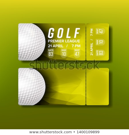 Ticket Gutschein Golf Turnier Vektor weiß Stock foto © pikepicture