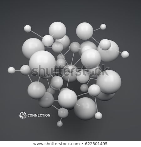 Model Molecular Structure Of Nanotechnology Vector Stock photo © pikepicture