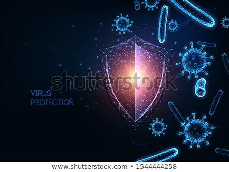 bactérias · microscópio · vetor · isolado - foto stock © rastudio