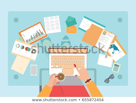 Papers or Documents in Envelope, Workers Vector Stock photo © robuart