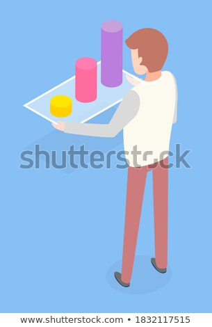 Statistic  Information on Board Scheme Colored Stock photo © robuart
