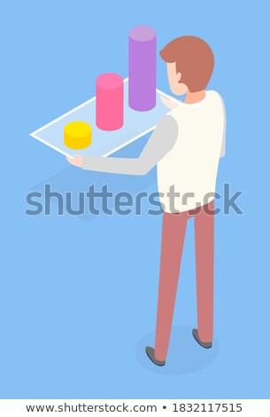 Statystyczny informacji pokładzie kolorowy schemat wektora Zdjęcia stock © robuart