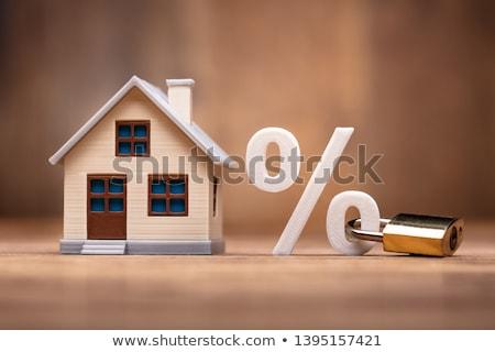 ストックフォト: 家 · モデル · パーセンテージ · にログイン · キーパッド · ロック