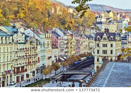 City center of Karlovy Vary Stock photo © borisb17