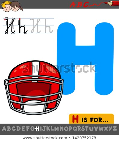 Lettre h cartoon casque illustration alphabet Photo stock © izakowski