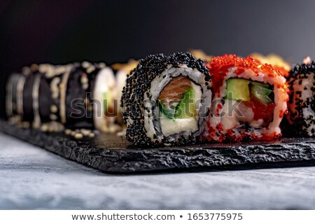 Japanese sushi set. Unagi Stock photo © karandaev