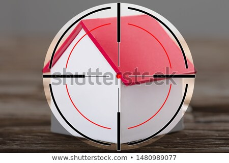 Shooting Range Target On Miniature House Stock photo © AndreyPopov