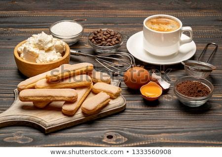vidrio · tiramisu · chocolate · torta · frescos · comida - foto stock © tycoon