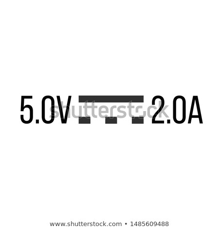 Direct Current DC Symbol Sign for 5V and 2A, Vector Illustration, Isolate On White Background. Stock photo © kyryloff