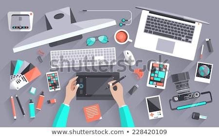 negócio · idéia · projeto · estilo · colorido · ilustração - foto stock © decorwithme