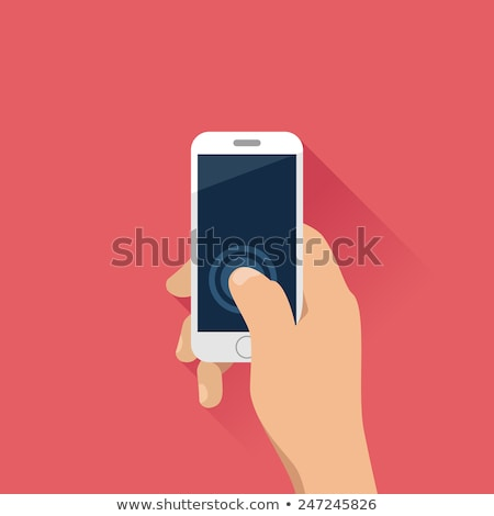 smartphone call technology device vintage vector stock photo © pikepicture