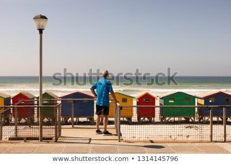 Kıdemli adam ayakta plaj Stok fotoğraf © wavebreak_media