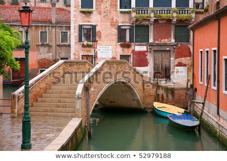 Two gondolas on Grand Canal in Venice, Italy. Stock photo © asturianu
