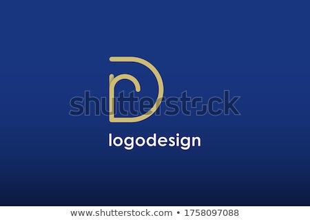 Linear geometrischen Gliederung Alphabet einfache Stock foto © kyryloff
